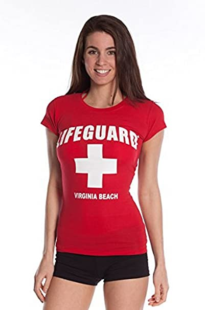 9709d03288a8 Amazon.com  LIFEGUARD Official Girls Cross Design Tee Red Large ...