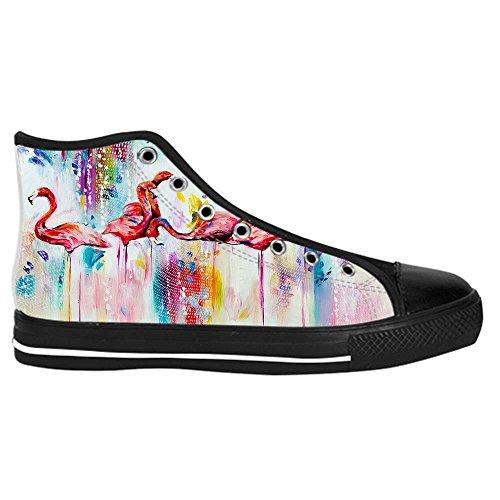 Dalliy Pink Flamingo Mens Canvas shoes Schuhe Lace-up High-top Sneakers Segeltuchschuhe Leinwand-Schuh-Turnschuhe D