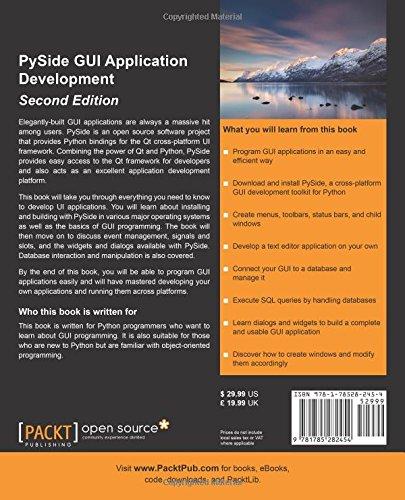 Pyside Gui Application Development Amazon In Gopinath Jaganmohan