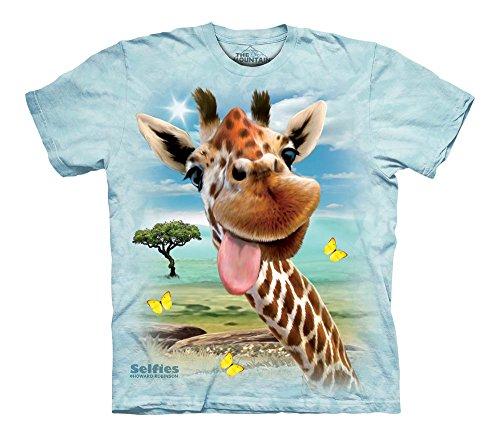 The Mountain Men's Giraffe Selfie T-Shirt Children's, Blue, - Giraffe Mali