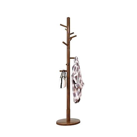 Amazon.com: Moolo - Perchero de madera maciza, soporte para ...