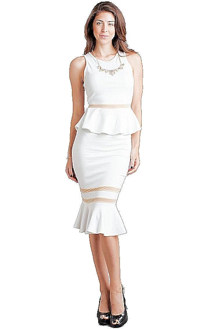 Nyteez Womens Peplum Top and Mermaid Skirt Set SY-645