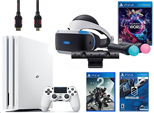PlayStation VR Launch Bundle 3 Items:VR Launch Bundle,PlayStation 4 Pro 1TB Destiny 2 Bundle,VR Game Disc PSVR DriveClub by Sony VR