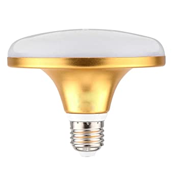 KHXYP Bombillas LED E27 Bombilla LED 36LED 5730 SMD UFO Lámpara Alta Potencia Plana 18W (