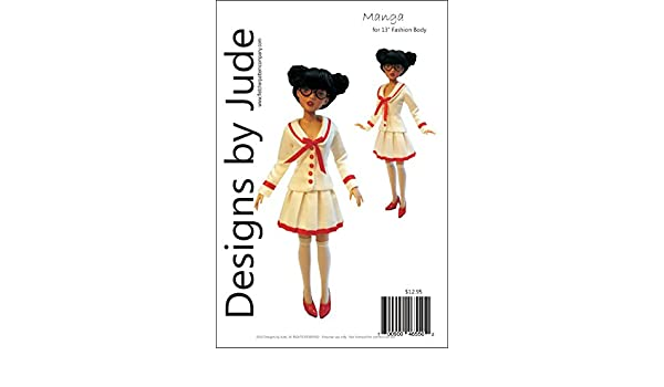 "Manga Doll Clothes Sewing Pattern for 13/"" Agatha Primrose /& Revlon Tonner"