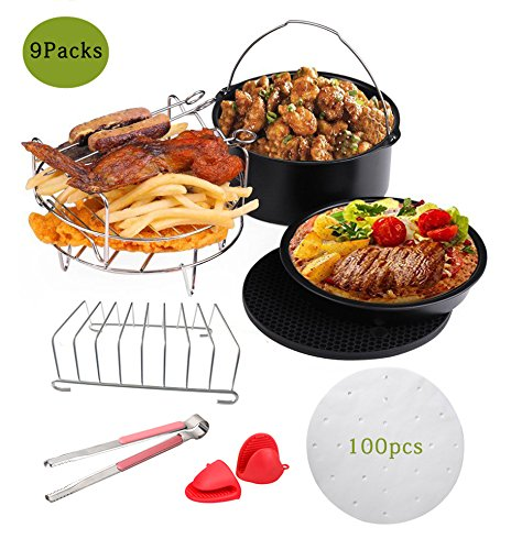 Befound Upgrade Air Fryer Accessories Kit, Fit for 2 Person Above Philips XL Gowise 5.8QT Power 5.3QT (9 Packs)