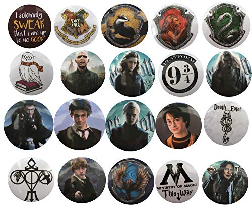 Harry Potter Button - The Bigger Vivider 1 .75 inch Badge / Button / Pin / Pinback/ Button Set, (Harry potter)
