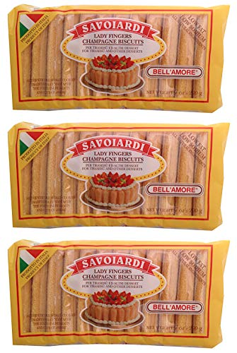 Savoiardi, Lady Fingers Champagne Biscuits (Pack of 3), 7 oz -