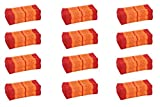 Value Pack: 12 Kapok Block Cushions (Thai Fabric Orange&Red) Handelsturm Original