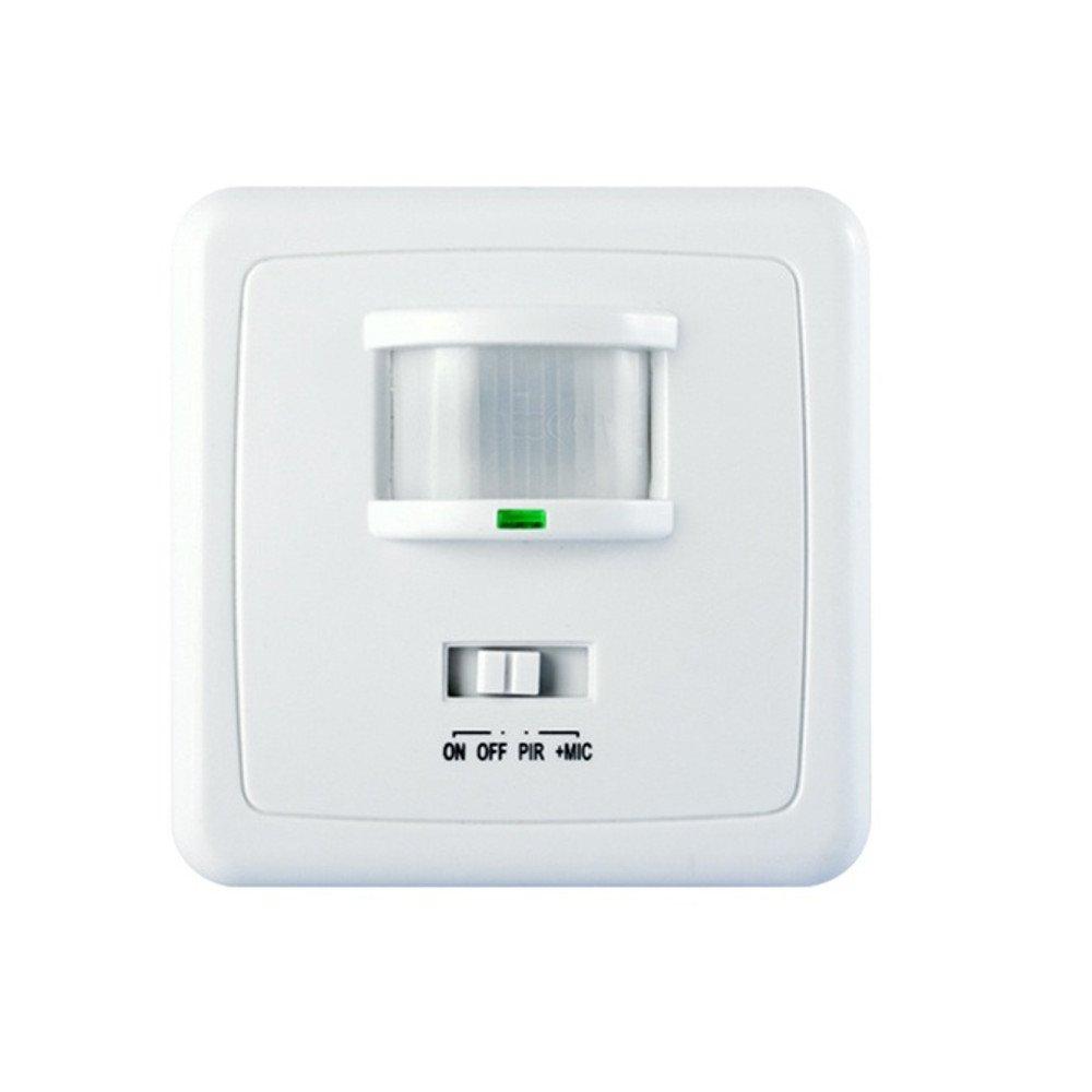 Maclean - Mce18 - detector sensor de movimiento y sonido de pared 160° pir: Amazon.es: Bricolaje y herramientas
