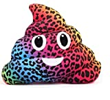 Emojicon Animal Print Poop Pillows (leopard)