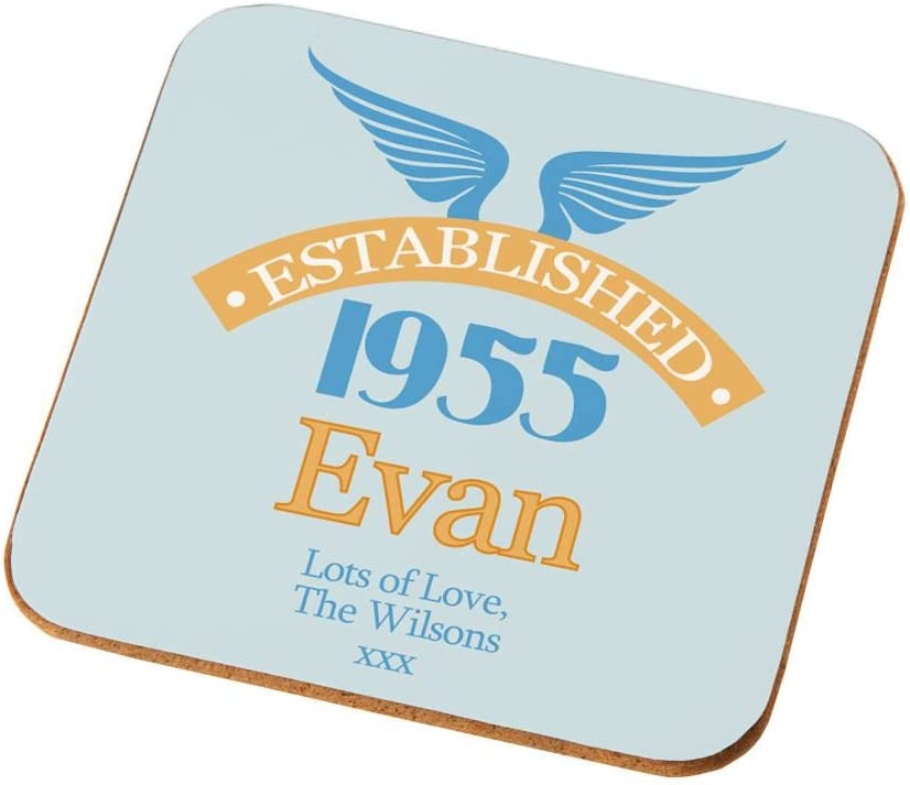 Personalised 60th Birthday Coaster Male 60th Birthday Gifts 60th Presents For Him Amazon Co Uk Kitchen Home