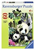 Ravensburger Panda Family 60 Piece Jigsaw Puzzle for Kids – Every Piece is Unique, Pieces Fit Together Perfectly