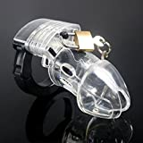 Hetam Newest! Adjustable Size Male Multifunction Chastity Lock/Belt,Cock Cage,Penis Ring,Men's Virginity Lock,Cock Ring,A137C