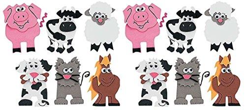 Fun Express 12 Farm Animal Magnet Craft Kits