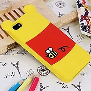 ZLXUSA (TM) Cute Cartoon Doll Pattern Silicone Soft Case for iPhone 5/5S