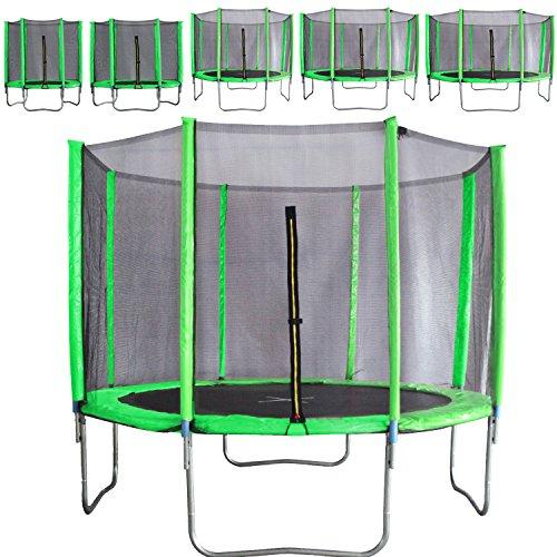 Premium-Trampolin-neongrn-183-244-305-366-427cm-mit-Netz-Sicherheitsnetz-Gartentrampolin-fr-Kinder