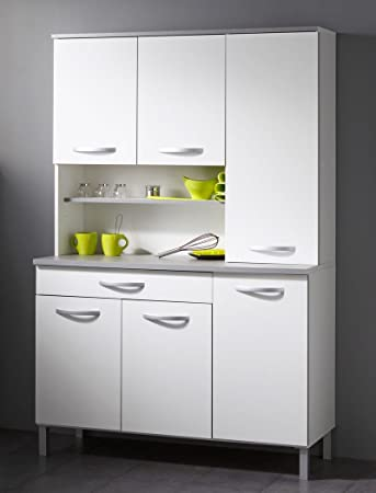 expendio Küchenschrank Seamus 22 120x181x44 cm weiß grau Schrank ...