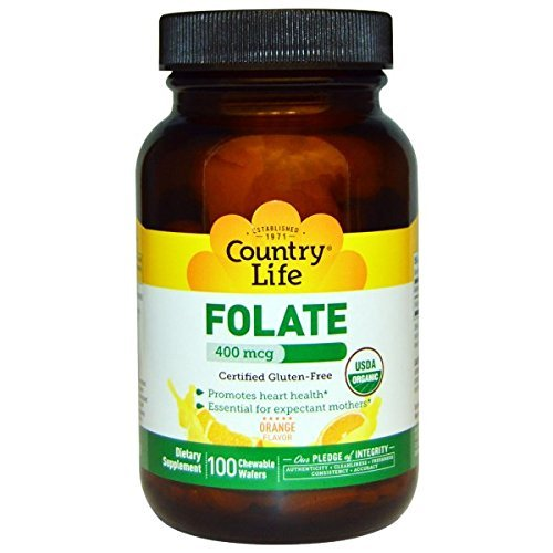 COUNTRY LIFE Organic Folate Melts 400mcg, 100 Count