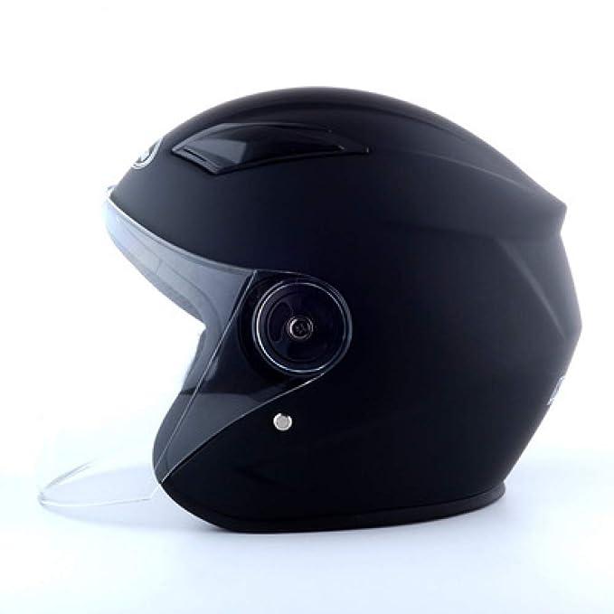 CCMUP Trendy fresco a prueba de viento cálido casco de motocicleta portátil casco de vehículo eléctrico Medio casco Unisex casco de invierno - rojo: ...