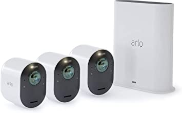Arlo Solarpanel Ladegerät Und Ultra Überwachungskamera 3er Set Bundle Weiß Baumarkt