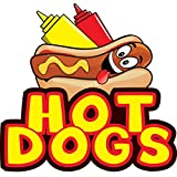 """HOT DOGS CHICAGO STYLE 12"""" Concession Decal sign cart trailer stand sticker equipment"""