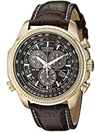 Men's BL5403-03X Eco-Drive Watch with Leather Band