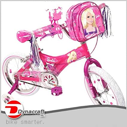Amazon.com: Barbie bicicleta para niñas 16 inch Ride With Me ...