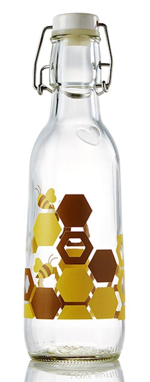 Love Bottle Honey Love Our Bees Bottle, Small, Multicolor
