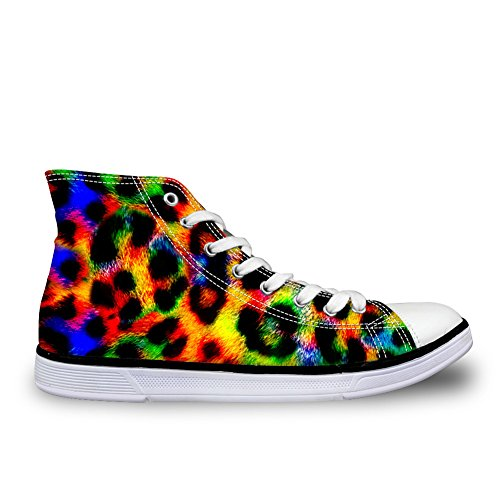 Voor U Ontwerpen Fashion Animal Print Comfortabel High Top Canvas Dames & Heren Sneakers Lace Up Stripe 1