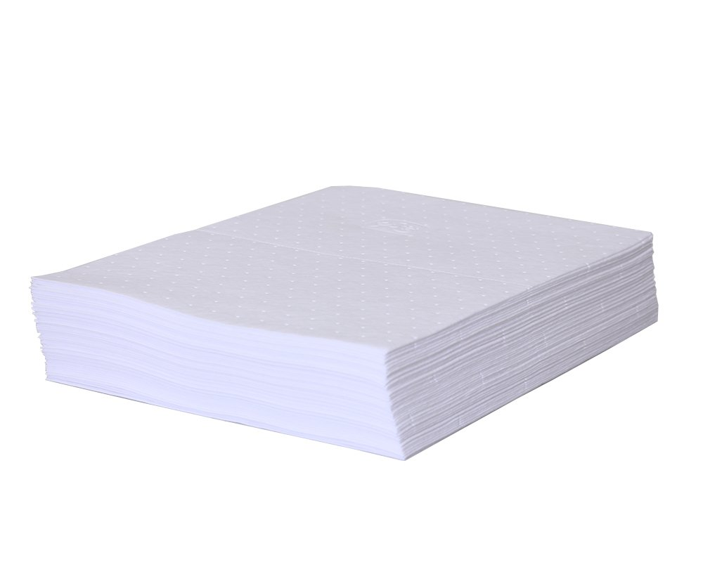New Pig PM50034 Outdoor Drive-Way Oil Absorbent Mat, 50 Count, White