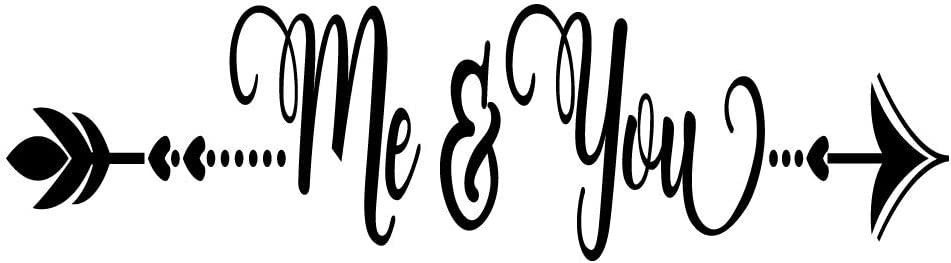 ZSSZ Me & You Vinyl Wall Decal Home Décor Art Letters Sweet Words Motto
