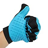 Pet Grooming Gloves,SHZONS 1 Pair Pet Shower Silicone Glove Massage Brush Sprayer Scrubber Grooming Cleaning Brush for Dog