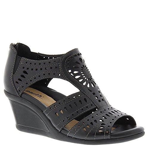 Earth Women's Crown Wedge Sandal,Black Soft Calf Leather,US 6 M ()