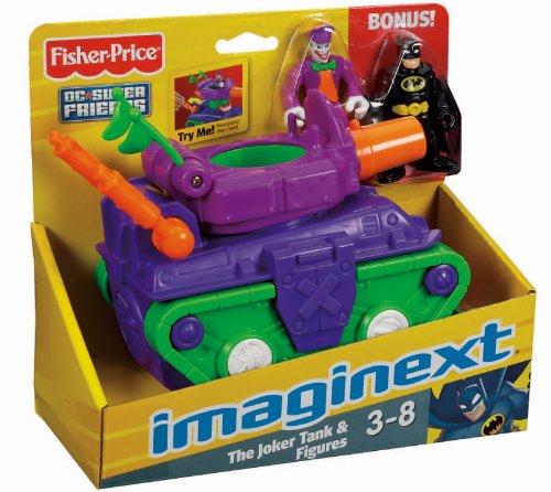 Fisher Price Imaginext Joker Tank with Batman and Joker Figures