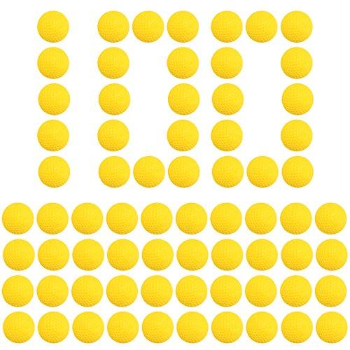 (Soft Bullet Balls,Goshfun 100 Pcs Foam Refill Ammo Bullet Balls for Nerf Rival Series (Yellow))