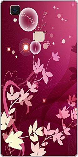 shengshou flowers design mobile back cover for vivo v3   pink white   Pink; White