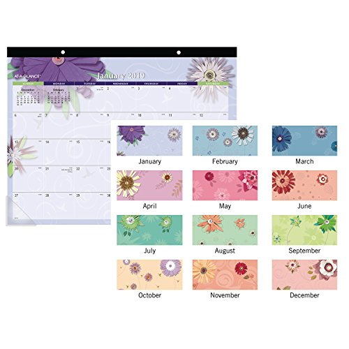 AT-A-GLANCE 2019 Monthly Desk Pad Calendar, 22'' x 17'', Standard, Paper Flowers (5035) by At-A-Glance (Image #3)'