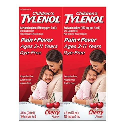 Children's Tylenol Oral Suspension, Cherry (4 oz, 2 pk.)
