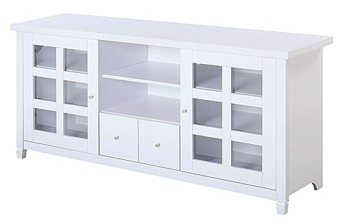 Convenience Concepts Newport Park Lane 60-Inch TV Stand, White