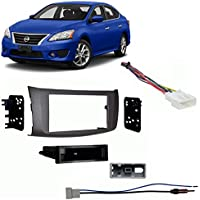 Fits Nissan Sentra 2013-2014 Single DIN Stereo Harness Radio Install Dash Kit