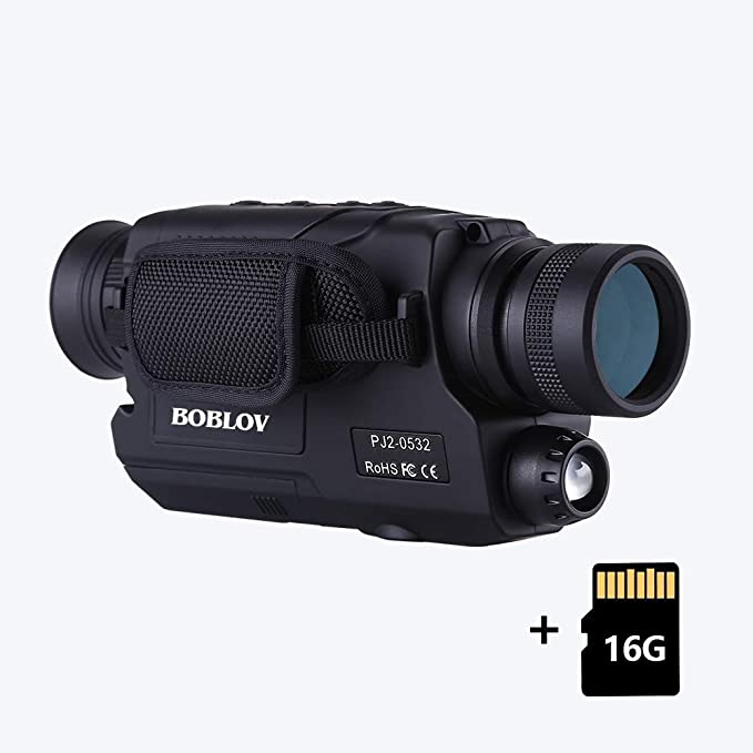 BOBLOV Digital Night Vision Monocular 5x32 Optics Scope Night Vision Infrared Monoculars