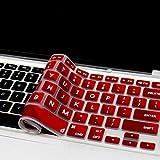 "Masino® Silicone Keyboard Cover Ultra Thin Keyboard Skin for MacBook Air 13"" MacBook Pro with Retina Display 13""15"" 17"" (Mosic-Red)"