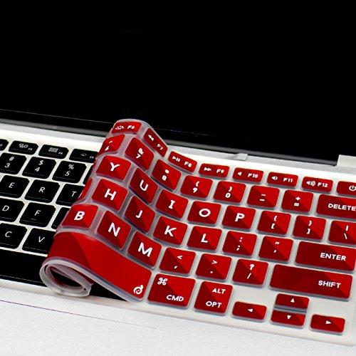 Masino Silicone Keyboard Cover Ultra Thin Keyboard Skin for MacBook Air 13 MacBook Pro with Retina Display 1315 17 (Mosic-Red)