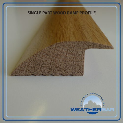 Barra per porta, In solido legno di quercia verniciato, pavimento a doppio profilo, copertura per soglia, adatta per pavimenti da 18 mm Weatherbar Sills