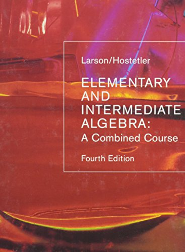 Elementary Intermediate Algebra, Custom Publication