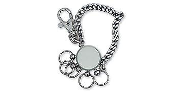 Llavero con cadena 20 cm metal, multiargolla, 5 enganches intercambiables, con mosquetón. De Dakota. 1 unidad.