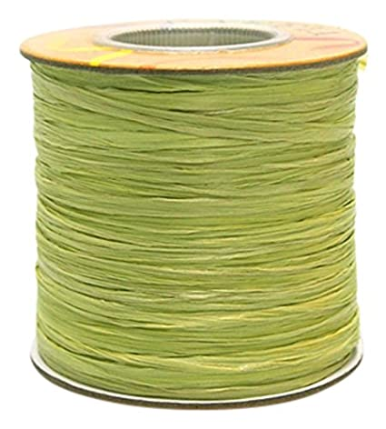 100 Yards Hunter Green Homeford Firefly Imports Matte Raffia Ribbon 1//4-Inch