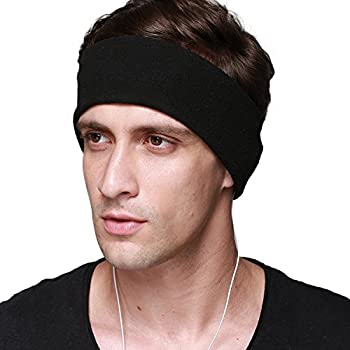 Sleep Headphones, with Velcro Adjustable Headband COZY Comfortable Soft Headphones for Sleeping - Perfect for Air Travel, Sports, Relaxation, Meditation and Relief from Insomnia (Black)