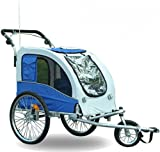 Aosom Elite II Pet Dog Bike Bicycle Trailer Stroller Jogger w/ Suspension - Blue